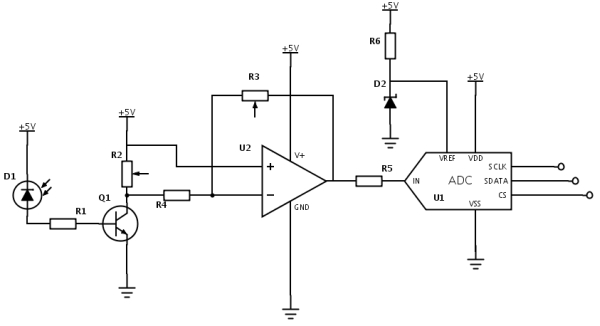 Circuit for Photodiode-Pi Interface