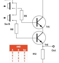 notice in this circuit that the two transistors tr5 and tr6 are effectively connected in series [ 1261 x 1677 Pixel ]