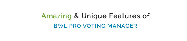 BWL Pro Voting Manager - 10