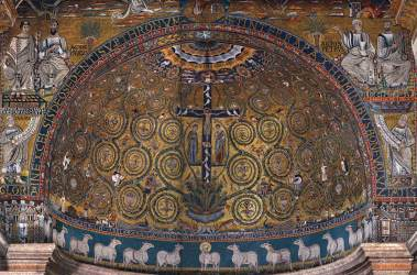 clemente san mosaic rome mosaics church apse 1130s st medieval basilica projects overall hu wga citation underground