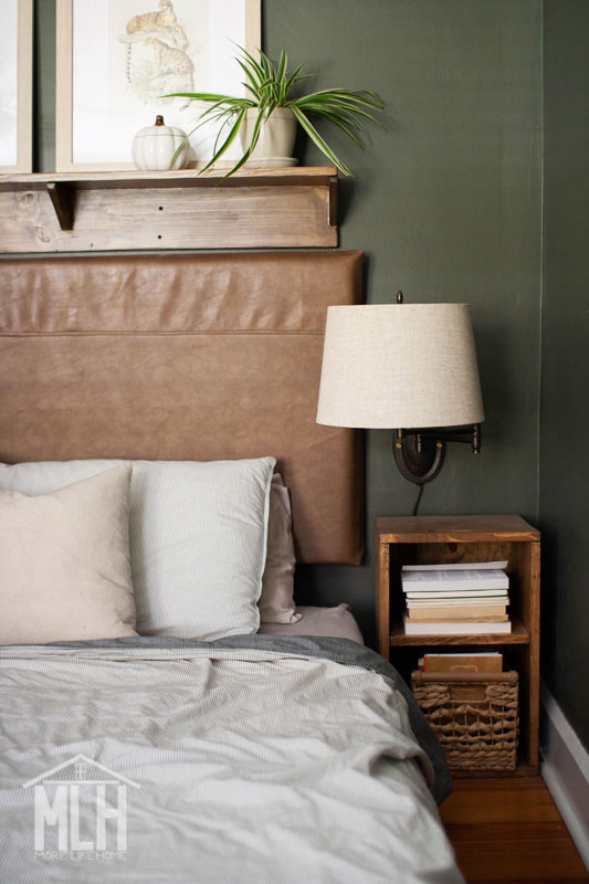 more like home diy easy headboard shelf