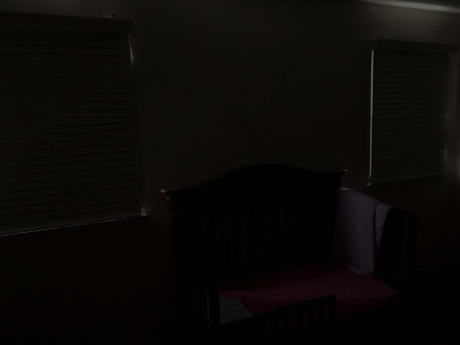 Toddler bed in a dark children's room