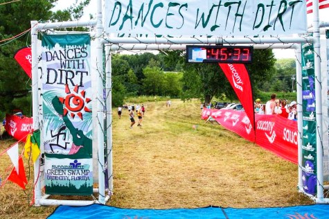 Runners approaching the finish line of the Dances with Dirt 50 Mile Ultramarathon