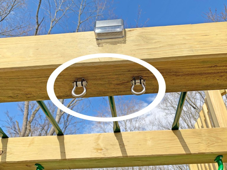Swing hangers on a playground