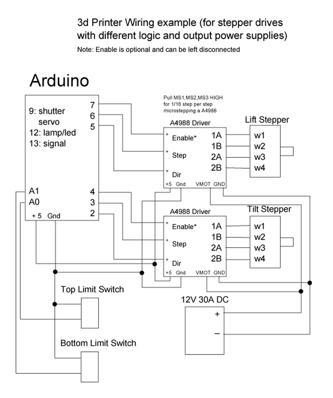 hight resolution of wiring diagram stepper drive with different logic and output power supplies