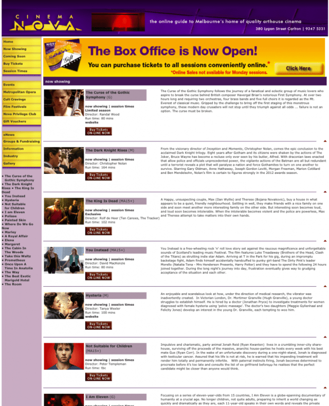 Cropped. Now Showing. Movie Descriptions