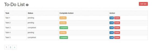 task-status-screen