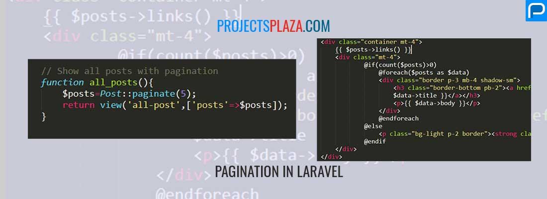 Create pagination in laravel - ProjectsPlaza