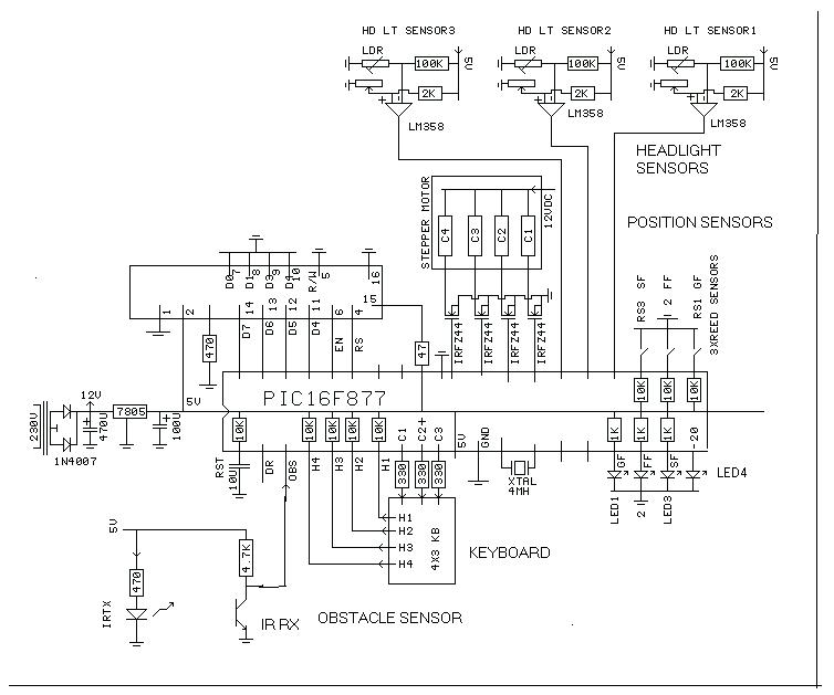 microcontroller based inverter circuit diagram 1991 ford f150 engine multi story car parking system final year block of project