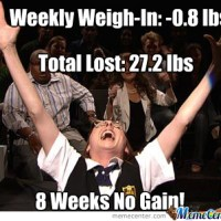 Weekly Weigh-In: By the seat of my (loose) pants.