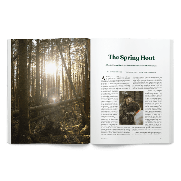 Spring 2020 Project Upland Magazine sooty grouse spring story