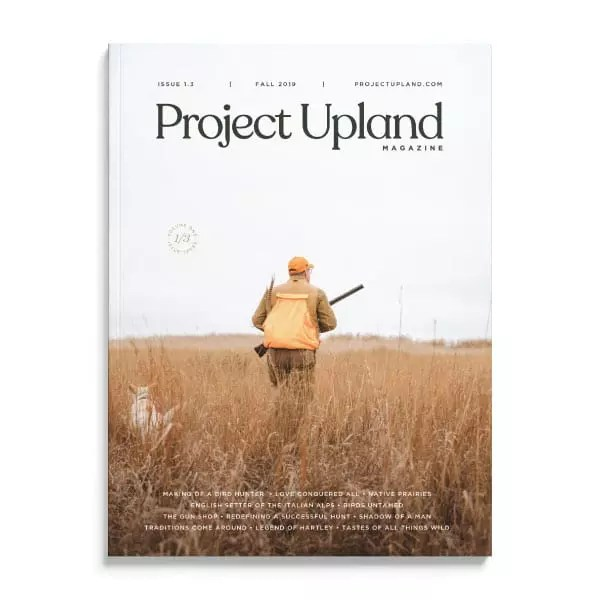The cover of the Fall 2019 issue of Project Upland Magazine