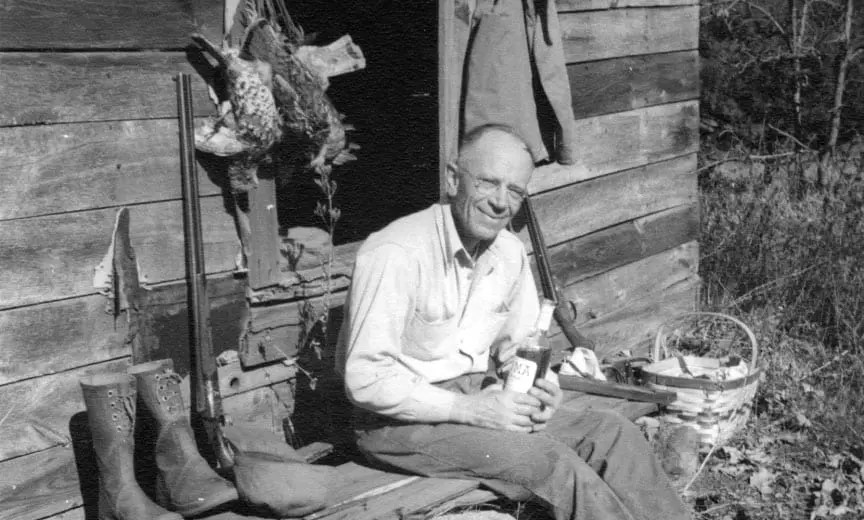 Aldo Leopold after a ruffed grouse hunt