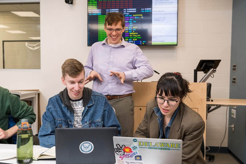 TRAINING ETHICAL HACKERS: Computer engineering students hone their skills at cybersecurity competitions and hackathons