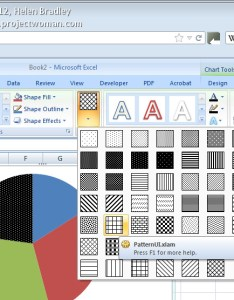 In excel also pattern fills for your charts projectwoman rh