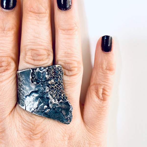 Raw Silver Haute Couture Ring
