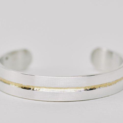 Silver and 24K gold bracelet