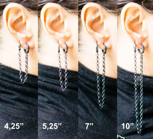Long double piercing earrings for sale