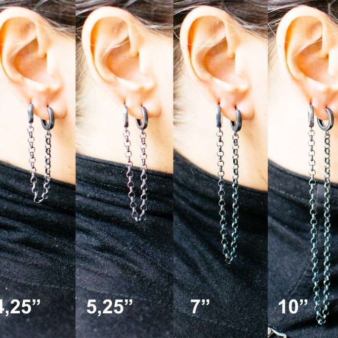 Long double piercing earrings for sale