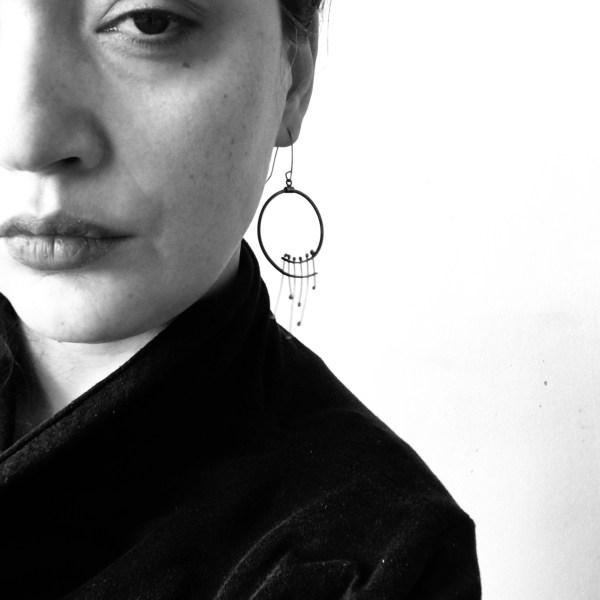 Elegant Dangle Earrings in Solid Silver