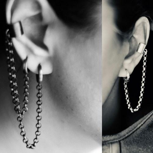 Rolo chain earrings