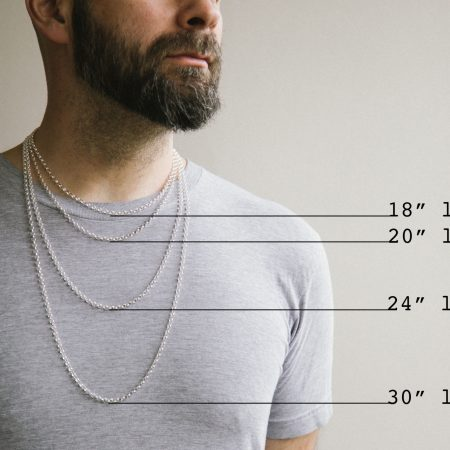 Rolo chain necklace for men