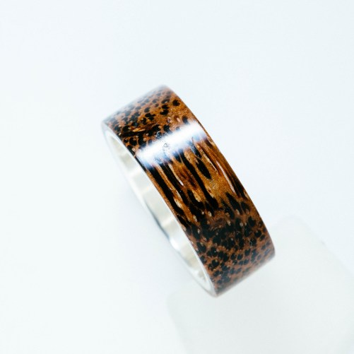 Buy wood and silver ring