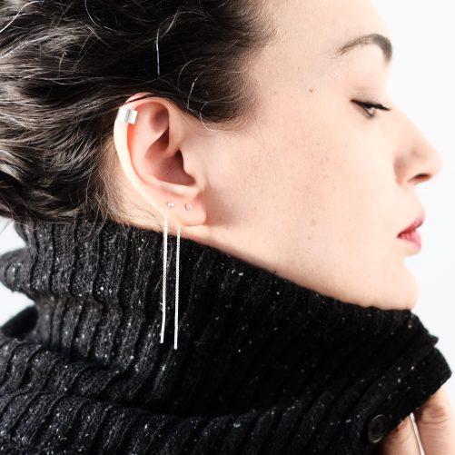 Dot Chain Earrings for sale