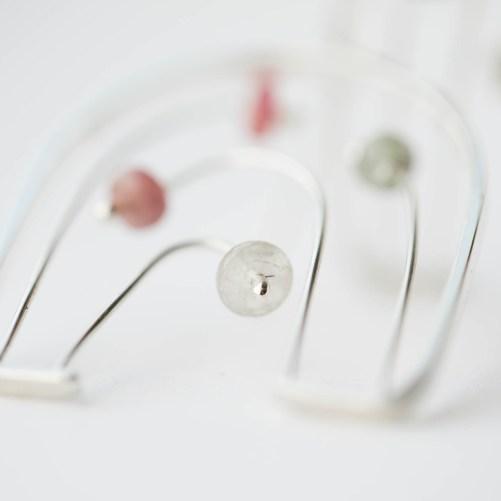 Real turmaline earrings