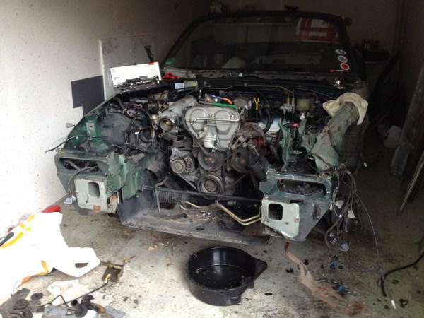 Motor Freilegung