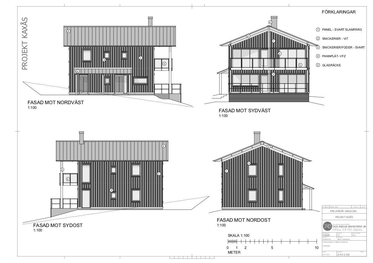 Fasader Ekobyn Ladriket Projekt Kaxås