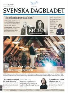 Projekt Kaxås förstasida i SVD 21 juli 2019