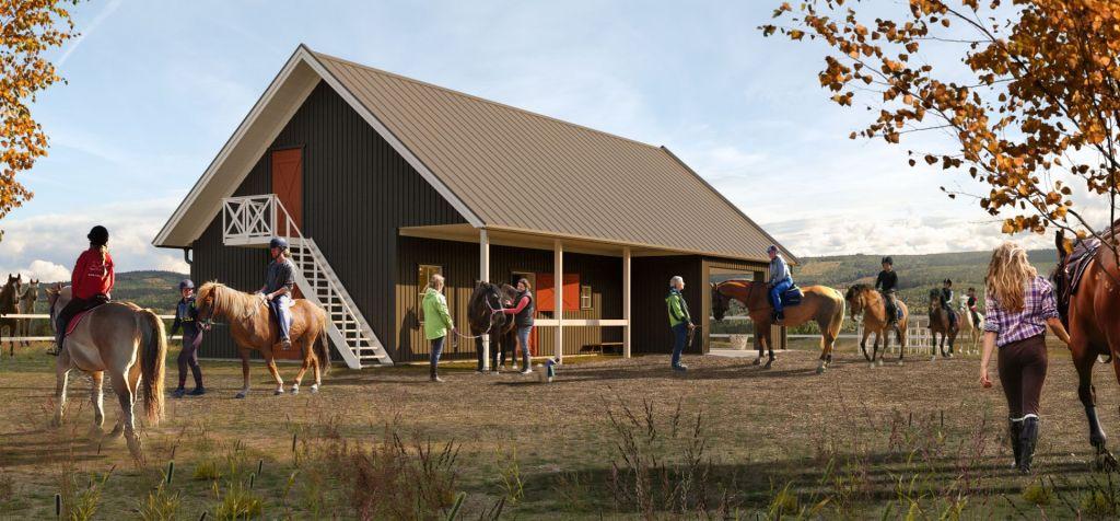 För de som önskar ha häst finns stall, paddock och hagar.