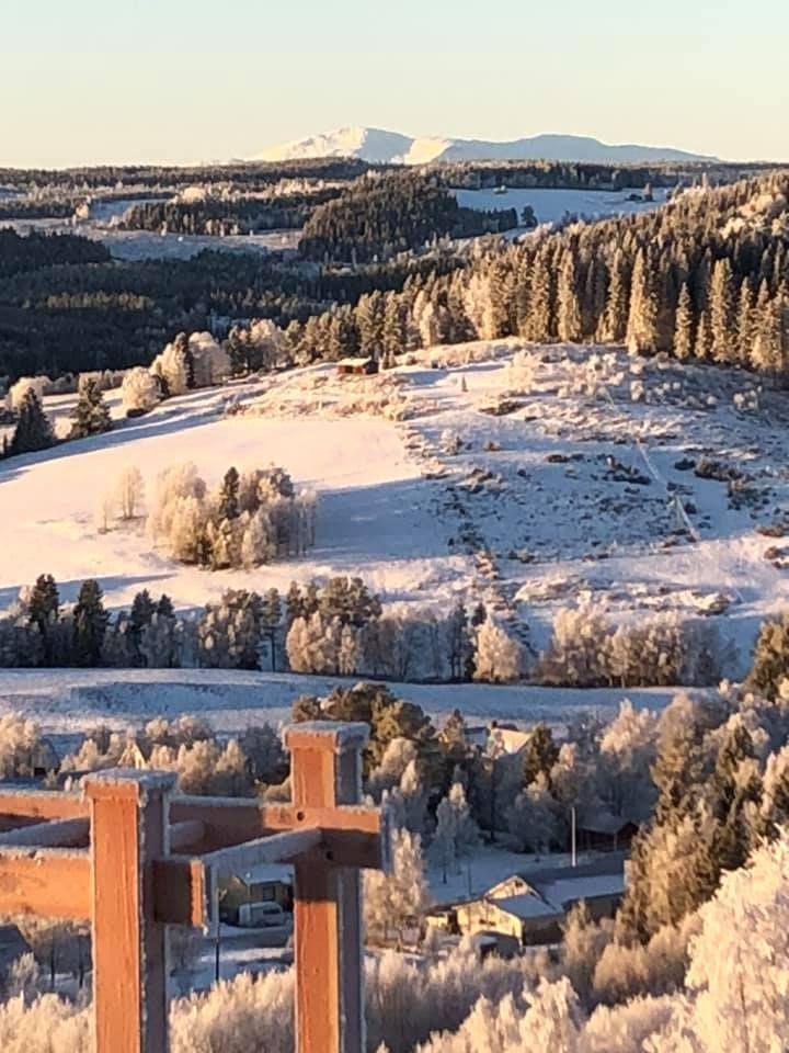 Utsikt från utegymmet i Kaxås. Foto © Karin Bångman.