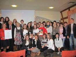 Wszyscy uczestnicy naszego Liceum biorący udział w projekcie Szkoły Liderów Przedsiębiorczości podczas gali rozdania nagród