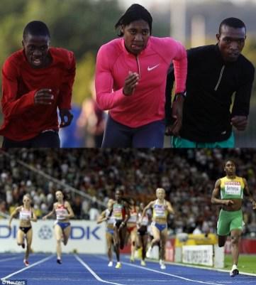Caster Semenya, înainte și după ...