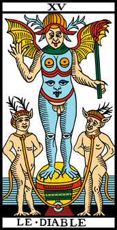 le diable tarot marseille