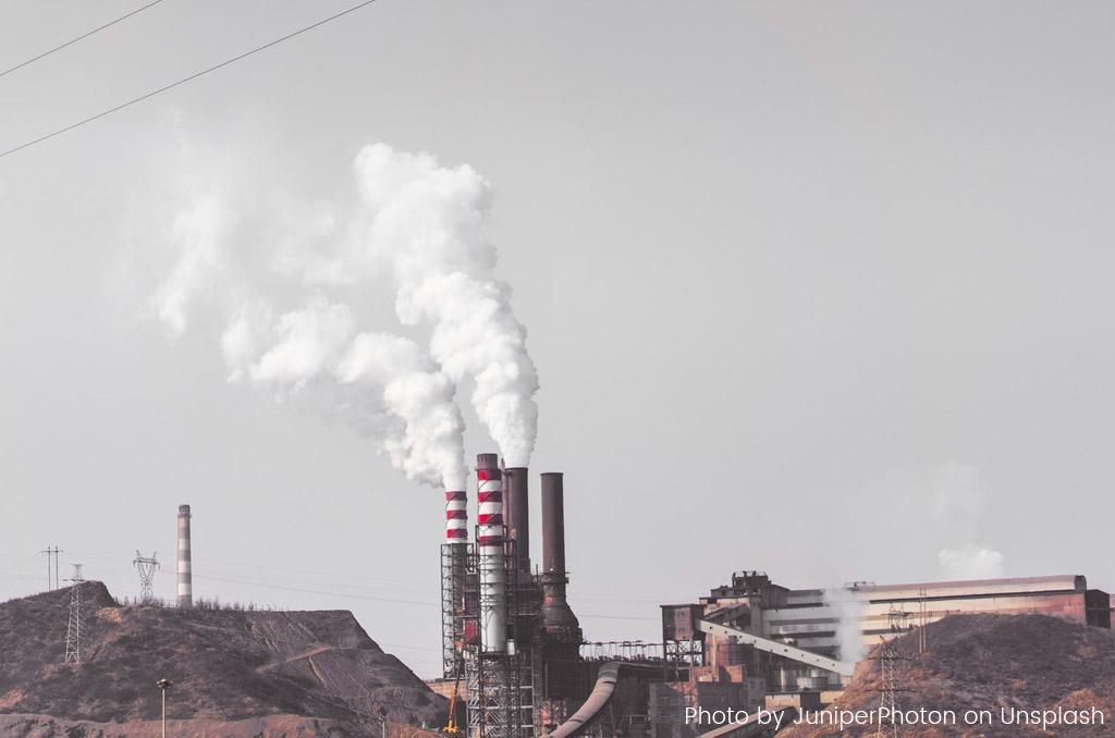 fumee usine charbon