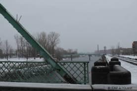 Canal sous la neige, Montréal