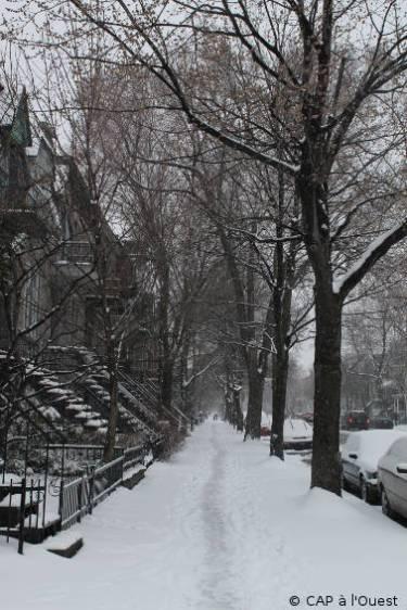 Rue St Hubert sous la neige