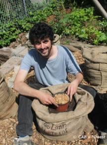 Création d'un bag garden. On continue à monter