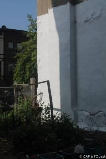 Mur blanc pour réfléter la lumière et projeter des films
