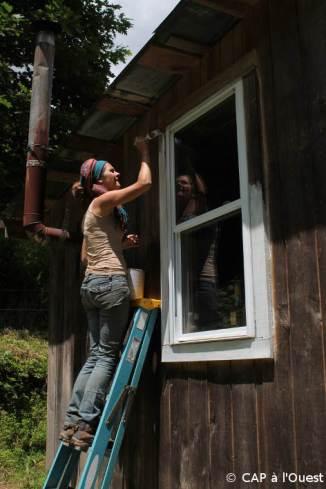 La peinture des fenêtres