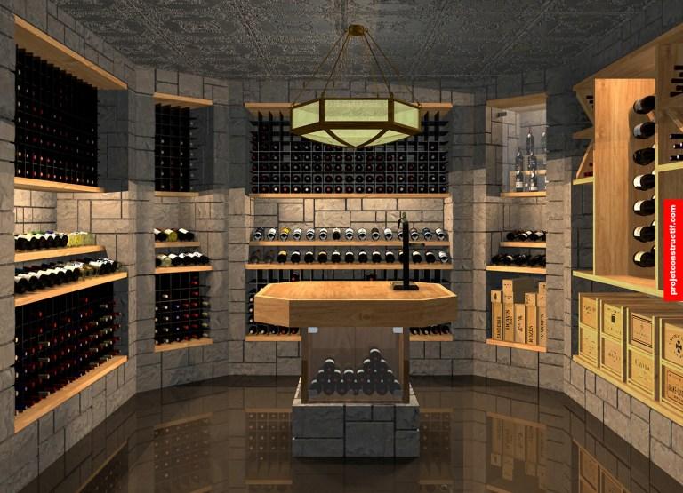Cave à vins_wine_room_modelisation_3D_design_interieur