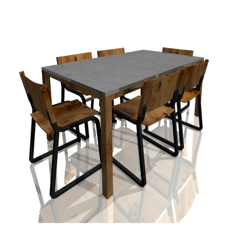 Mobilier_salle_a_manger_beton_Concrete_table_top_dinning_set