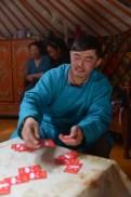 Un ami qui a joué avec nous au poker mongol.