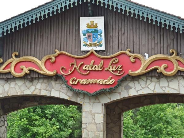 A entrada de Gramado