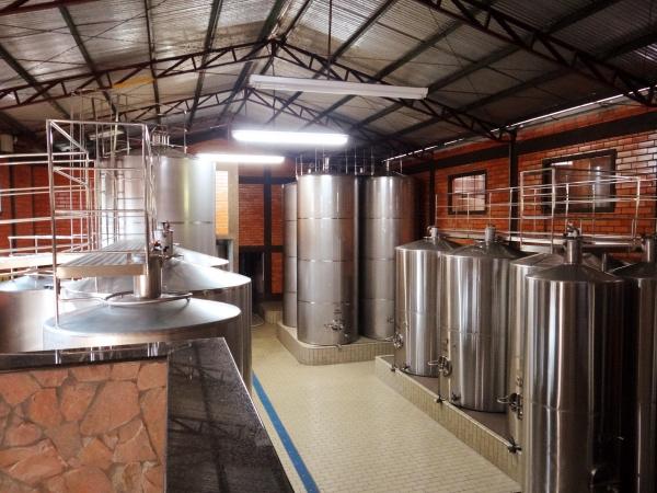 Preparo do vinho vinícola da serra