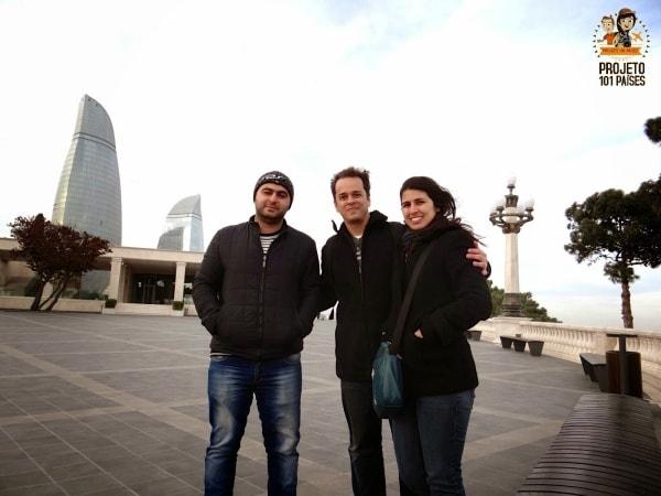 Nosso amigo Ibrahim foi um grande anfitrião em Baku!
