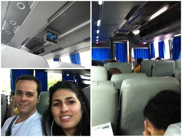 Ônibus que nos levou até Punta Cana